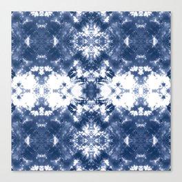 Shibori Tie Dye 4 Indigo Blue Canvas Print