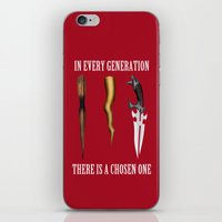 buffy iPhone & iPod Skins featuring Buffy - In Every Generation by BovaArt