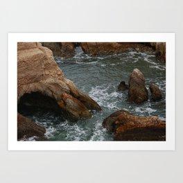 Rocky Cliff Montaña de Oro Art Print
