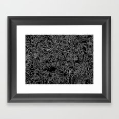 These Lines Draw Me Framed Art Print