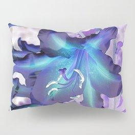 Contemporary Teal Aqua Lilac Lily Flower Art A120 Pillow Sham
