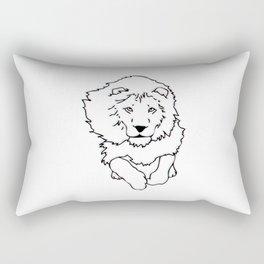3D Lion Rectangular Pillow