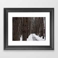 Winter Woodland Walk - A Snowy Path Framed Art Print