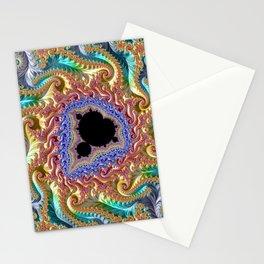 Colorful Slopes Mandelbrot Fractal Stationery Cards