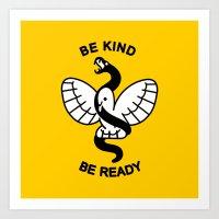 Be Kind, Be Ready Art Print