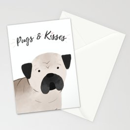 Pugs and Kisses Stationery Cards