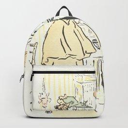 """Henri de Toulouse-Lautrec """"Alors vous êtes sages"""" Backpack"""