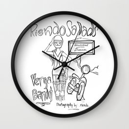 Riendo Salads- Uncovered, Discover cover page Wall Clock