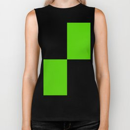 Big mosaic green black Biker Tank