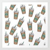 starbucks Art Prints featuring Starbucks by eARTh