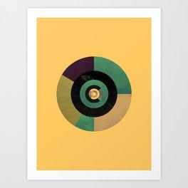Circle Fibonacci.2 Art Print