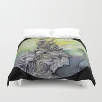 anxiety Duvet Covers featuring Pillar of Anxiety by Kei Rune Art