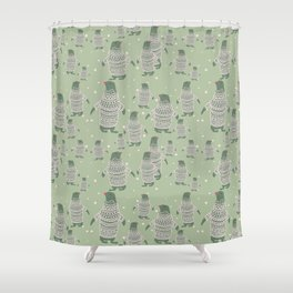 Penguin Christmas Shower Curtain