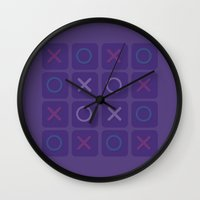game Wall Clocks featuring Game by Sobhani