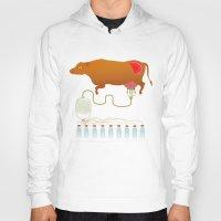 cow Hoodies featuring Cow by Mira Maijala