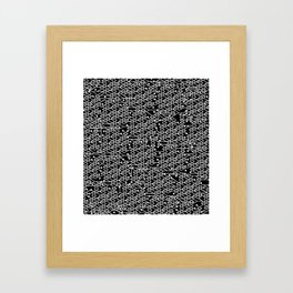 Microchip Pattern (White) Framed Art Print