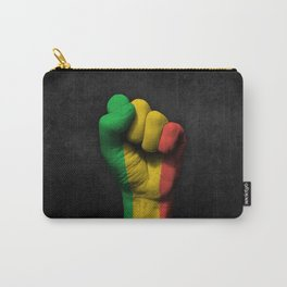 Mali Flag on a Raised Clenched Fist Carry-All Pouch