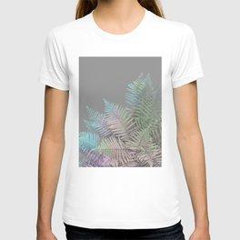 Rainbow Fern on Grey #decor #buyart #foliage T-shirt