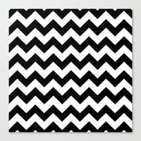 chevron Canvas Prints featuring Chevron (Black/White) by 10813 Apparel
