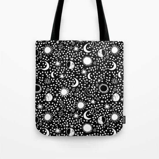 Sun, Moon, Stars by Andrea Lauren Tote Bag