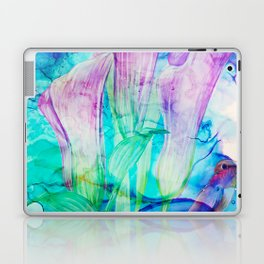 alcohol inks spring floral Laptop & iPad Skin