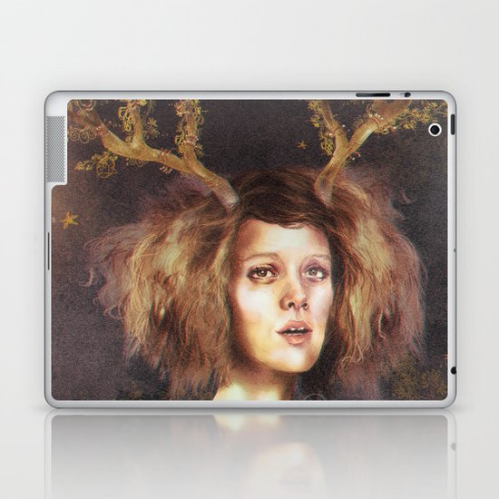 The Golden Antlers Laptop & iPad Skin