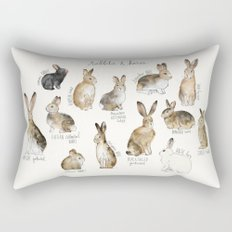 Rabbits & Hares Rectangular Pillow
