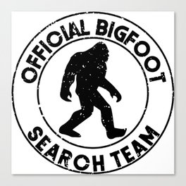 Official Bigfoot Search Team Canvas Print