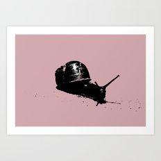 Pink Snail Art Print