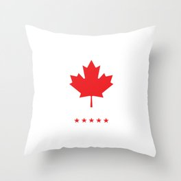 American Canadian North America British Columbia Gift Canada Like American Only Better Throw Pillow