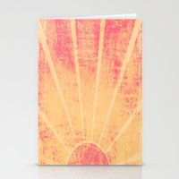 hemingway Stationery Cards featuring The Sun Also Rises (Peach Wash) by shirosakar