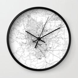 Boulder White Map Wall Clock