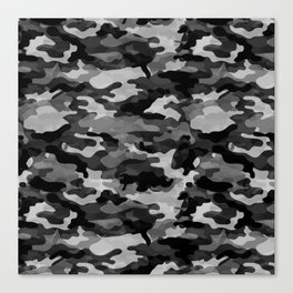 Camouflage (Gray) Canvas Print