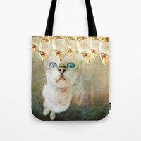 games Tote Bags featuring Hunger Games by Sandy Broenimann