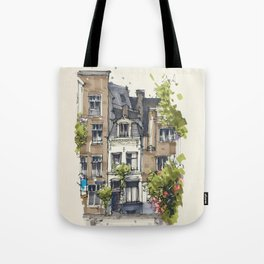 Residential house along Amsterdam canals Tote Bag