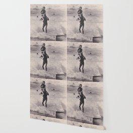Tandem Surfers Marian & Tommy Zahn Wallpaper