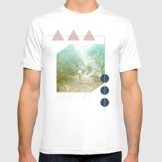 M.M. Collage Mens Fitted Tee MEDIUM White