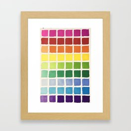 Rainbow Swatch by Diane Bleck Framed Art Print
