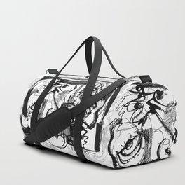 Chit-Chat - b&w Duffle Bag