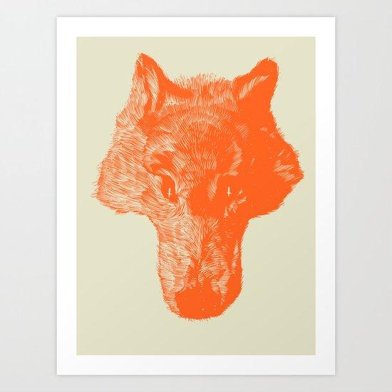 Head Coyote Art Print