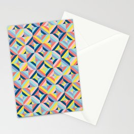 Abstract Mosaic Diamonds Stationery Cards