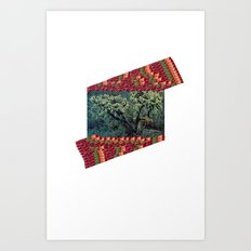 Trees in Color Breeze Art Print