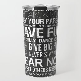 Our Family Rules Travel Mug