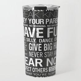 Our Family Rules Travel Mug