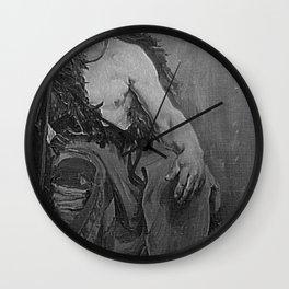 Jean-Paul Laurens - Etude d'homme assis Wall Clock