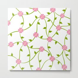 Flowers on a Vine Metal Print
