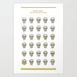 Month of Movember Art Print