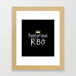 Notorious RBG Framed Art Print