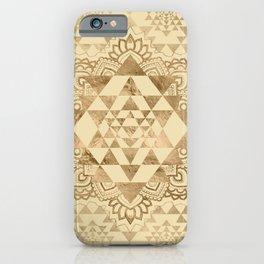 Sri Yantra  / Sri Chakra Pastel Gold iPhone Case