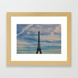Eiffel Tower, Paris (Landscape) Framed Art Print